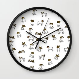 Jack Russell Terrier Cartoon Wall Clock