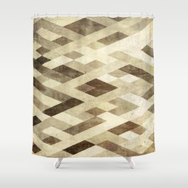 Abstract Pattern in Brown Shower Curtain