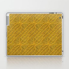 Yellow Lines Knit Laptop & iPad Skin