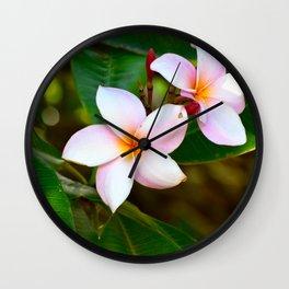 Plumeria 01 Wall Clock