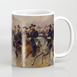 Grant and His Generals Painting Coffee Mug