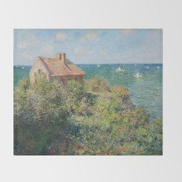 Fisherman's Cottage at Varengeville by Claude Monet Throw Blanket