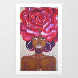 Beautiful as a Rose Art Print