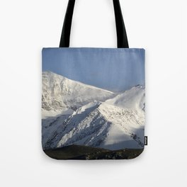 Hight snowy mountains. 3489 meters Tote Bag