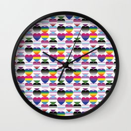 Love is Love is Love Wall Clock