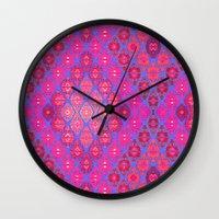 kilim Wall Clocks featuring Kilim 4 by EllaJo Design
