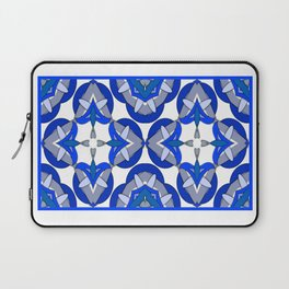 Abstract Half Moons - Blue Laptop Sleeve