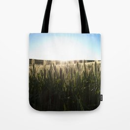Wheat Field Sunset Photography Print Tote Bag