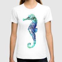 sea horse T-shirts featuring Sea Horse by LebensART
