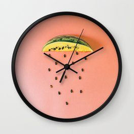 Yellow watermelon slice Wall Clock