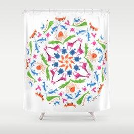 Animal Boogie Shower Curtain