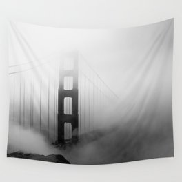 Into the Fog (Golden Gate Bridge) Wall Tapestry