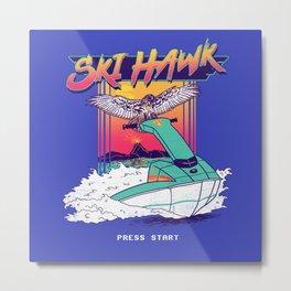 Ski Hawk Metal Print