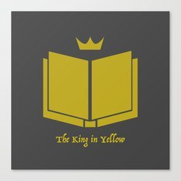 The King in Yellow Canvas Print
