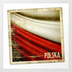 STICKER OF POLAND flag Art Print