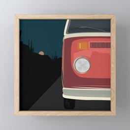 Desert Road Trip Framed Mini Art Print