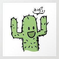 hug Art Prints featuring Hug? by UNDeRT4keR