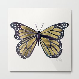 Gold Butterfly Metal Print