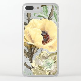 Yellow poppies. Clear iPhone Case