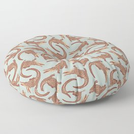 Crocodiles (Calm Beige and Gray Palette) Floor Pillow