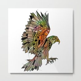 Kea New Zealand Bird Metal Print