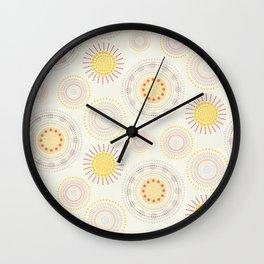 Suzani inspiration Wall Clock