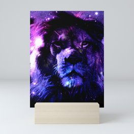 Lion leo purple Mini Art Print