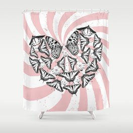 Love Conquers Hate Shower Curtain