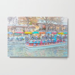 Ride Down The River - San Antonio, Texas Metal Print