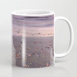 The Beach Of The Shells. Purple sunset Coffee Mug