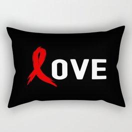Blood Cancer Awareness Rectangular Pillow