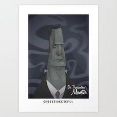 Dr. Frankensteins Monster Art Print