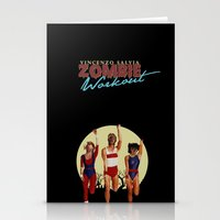 workout Stationery Cards featuring Zombie Workout by Vincenzo Salvia
