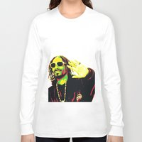 rasta Long Sleeve T-shirts featuring Rasta Snoop by dkazbar