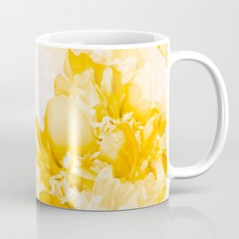 Beautiful Peony Flowers White Background #decor #society6 #buyart Coffee Mug