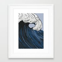anxiety Framed Art Prints featuring Anxiety by Ksenia Palfy