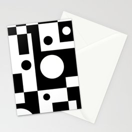 Black & White Abstract II Stationery Cards