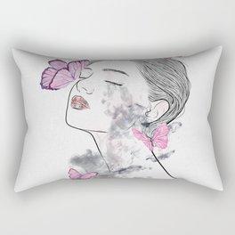 A touch of butterflies. Rectangular Pillow
