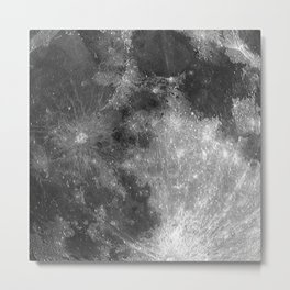Black & White Moon Metal Print