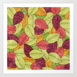 Let the Leaves Fall #11 Art Print
