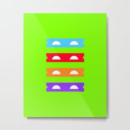 Teenage Minimal Ninja Turtles Metal Print