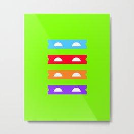 Teenage Minimal Ninja Turtles Metal Print