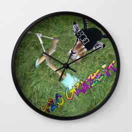 420 Graze It Wall Clock