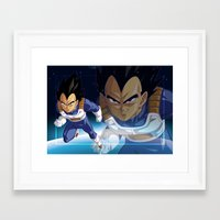 vegeta Framed Art Prints featuring Vegeta by Neo Crystal Tokyo