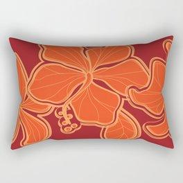 Kailua Hibiscus Hawaiian Sketchy Floral Design Rectangular Pillow
