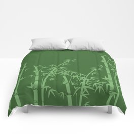 Bamboo deign green all Comforters