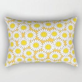 A Crowd of Smiling Daisies Rectangular Pillow