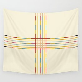 Fine Line Colorful Retro Cross Wall Tapestry