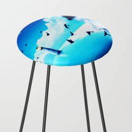 Lighthouse At The Sea Counter Stool