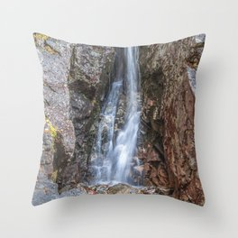 Silver cascade waterfall Throw Pillow